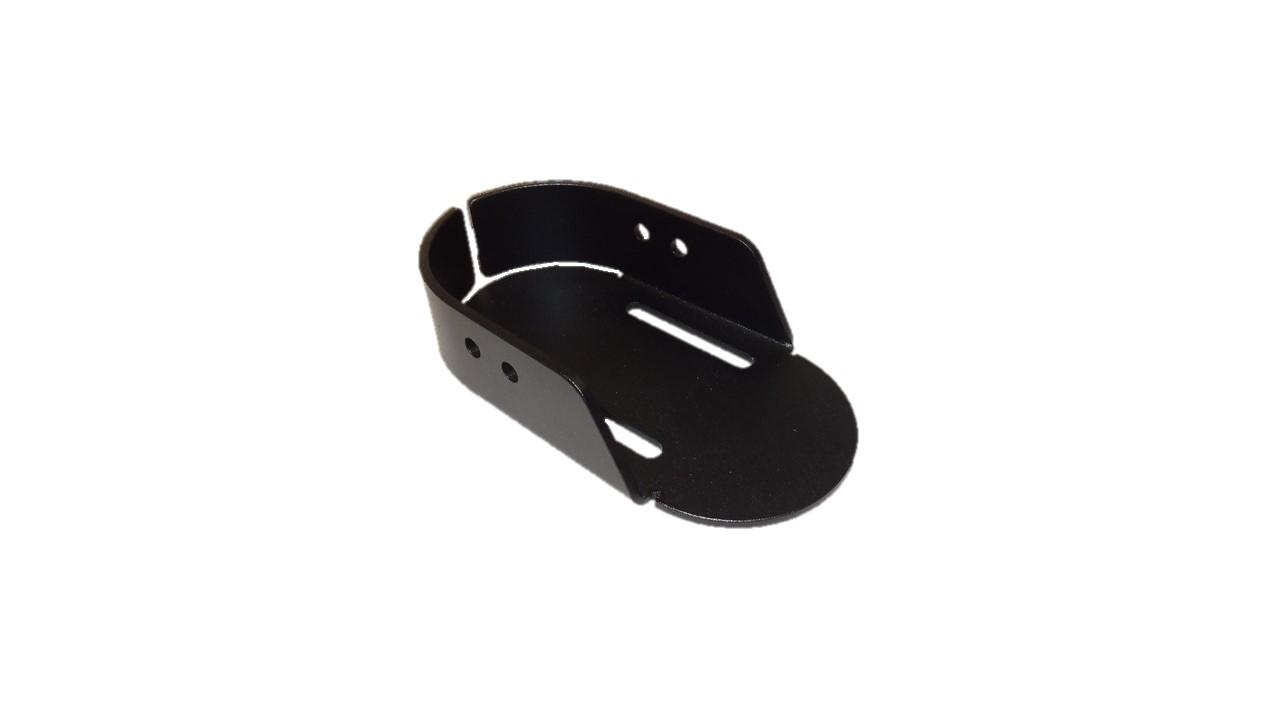 Fußschale, Aluminium, Vorne Offen, Typ II, Schwarz