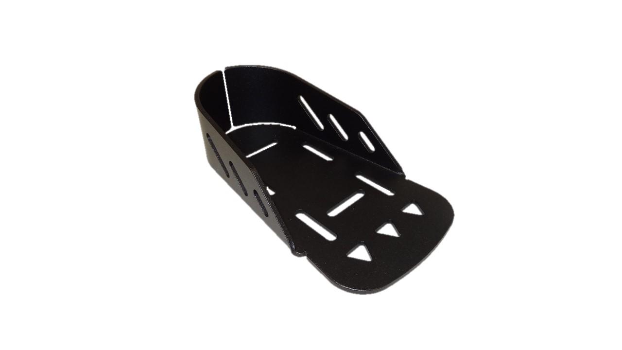 Fußschale, Aluminium, Vorne Offen, Typ I, Schwarz