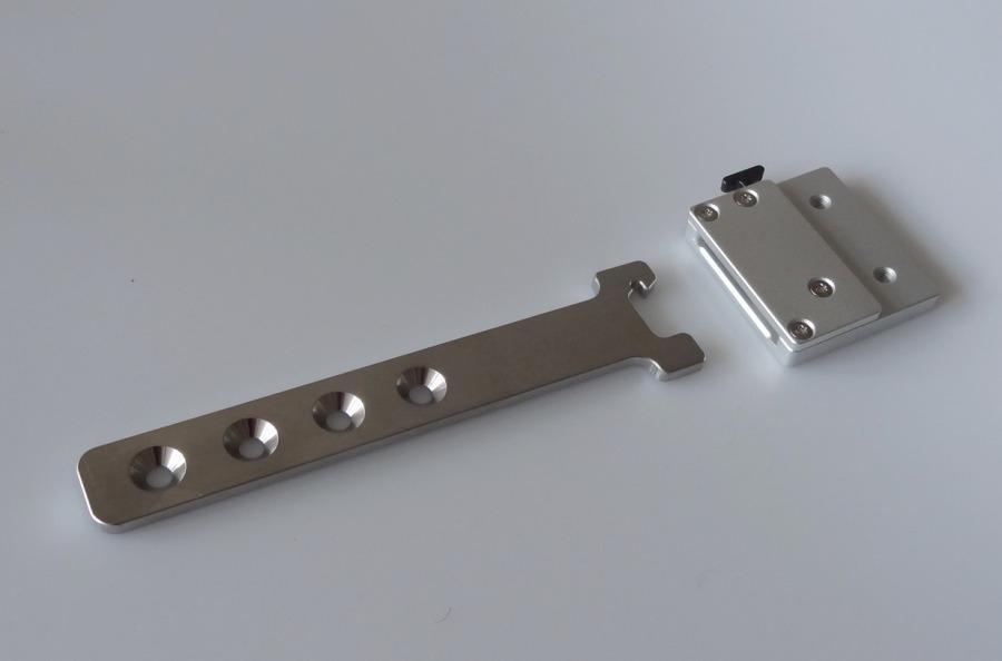 SlimClick Steckmechanismus, Edelstahl-Steckleiste, Glasperlengestahlt, Typ I