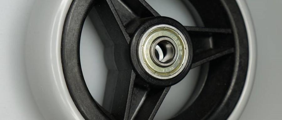 Rad, Kunststofffelge, 3 Speichen